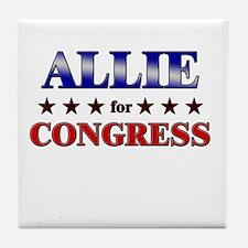 ALLIE for congress Tile Coaster