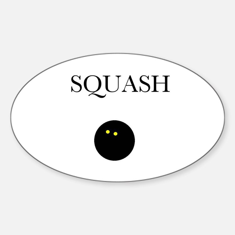 Squash Oval Decal