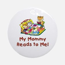 Mommy Reads Ornament (Round)