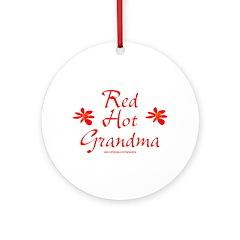 Red Hot Grandma Ornament (Round)