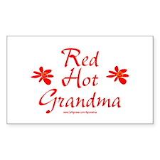 Red Hot Grandma Rectangle Decal