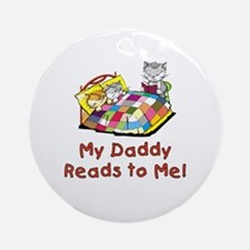 Daddy Reads Ornament (Round)