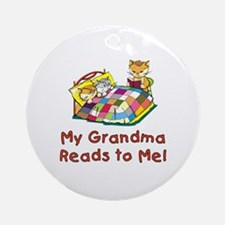 Grandma Reads Ornament (Round)