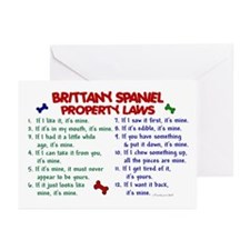 Brittany Spaniel Property Laws 2 Greeting Cards (P