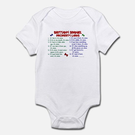 Brittany Spaniel Property Laws 2 Infant Bodysuit
