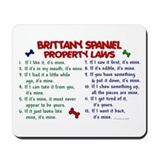 Brittany Spaniel Property Laws 2 Mousepad