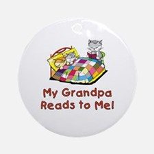 Grandpa Reads Ornament (Round)