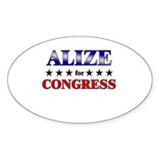ALIZE for congress Oval Decal