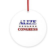 ALIZE for congress Ornament (Round)