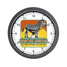Animal Rescue Zebra Wall Clock