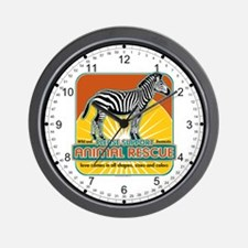 Animal Rescue Zebra Wall Clock