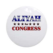 ALIYAH for congress Ornament (Round)