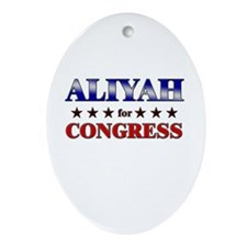 ALIYAH for congress Oval Ornament