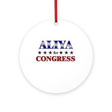 ALIYA for congress Ornament (Round)