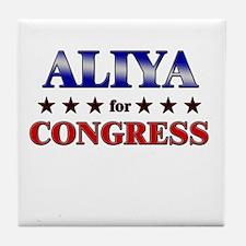 ALIYA for congress Tile Coaster