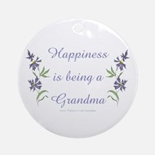 Happy Grandma Ornament (Round)