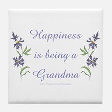 Happy Grandma Tile Coaster