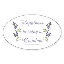 Happy Grandma Oval Decal