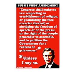 Bush 1st Amendment Postcards