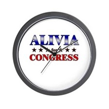 ALIVIA for congress Wall Clock