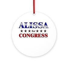 ALISSA for congress Ornament (Round)