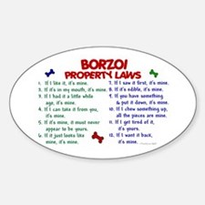 Borzoi Property Laws 2 Oval Decal