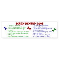 Borzoi Property Laws 2 Bumper Bumper Sticker
