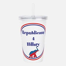 Republicans for Hillary Acrylic Double-wall Tumble