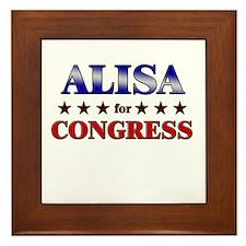 ALISA for congress Framed Tile