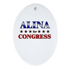 ALINA for congress Oval Ornament