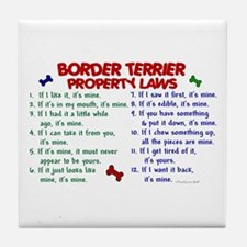 Border Terrier Property Laws 2 Tile Coaster