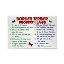 Border Terrier Property Laws 2 Rectangle Magnet