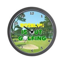 Roselyn is Out Golfing - Wall Clock