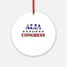 ALIA for congress Ornament (Round)