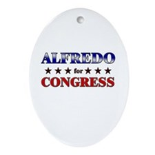 ALFREDO for congress Oval Ornament