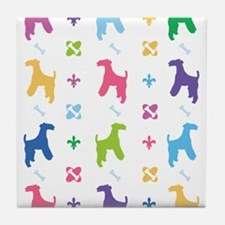 Welsh Terrier Designer Tile Coaster