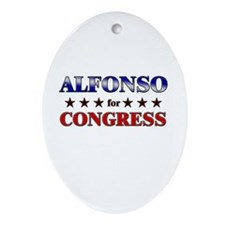 ALFONSO for congress Oval Ornament