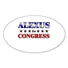 ALEXUS for congress Oval Decal