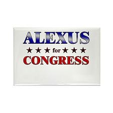 ALEXUS for congress Rectangle Magnet