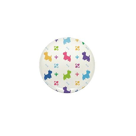 Westie Designer Mini Button