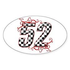 RaceFashion.com 52 Oval Decal