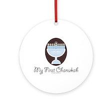 My First Chanukah Hanukkah Ornament (Round)