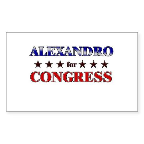 ALEXANDRO for congress Rectangle Sticker