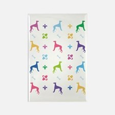 Whippet Designer Rectangle Magnet