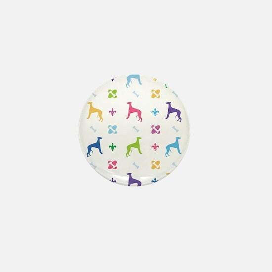 Whippet Designer Mini Button