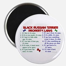 Black Russian Terrier Property Laws 2 Magnet