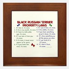 Black Russian Terrier Property Laws 2 Framed Tile