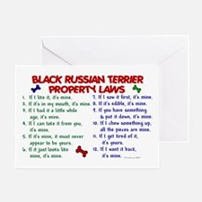 Black Russian Terrier Property Laws 2 Greeting Car