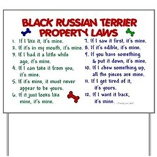 Black Russian Terrier Property Laws 2 Yard Sign
