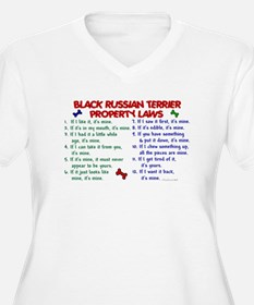 Black Russian Terrier Property Laws 2 T-Shirt